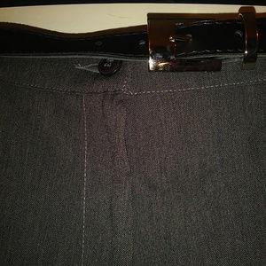 Alia Pants & Jumpsuits - Alia Heather Charcoal Dress Pants with Belt
